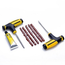 Car Tire Repair Tool Vacuum Kit Strip Fast Glue Liquid Auto Bike Tubeless Tyre Puncture Plug Garage C80