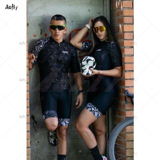 2020 kafitt verão das mulheres preto casal ciclismo triathlon terno ciclismo conjunto skinsuit maillot ropa ciclismo go pro macacão de ciclismo 1