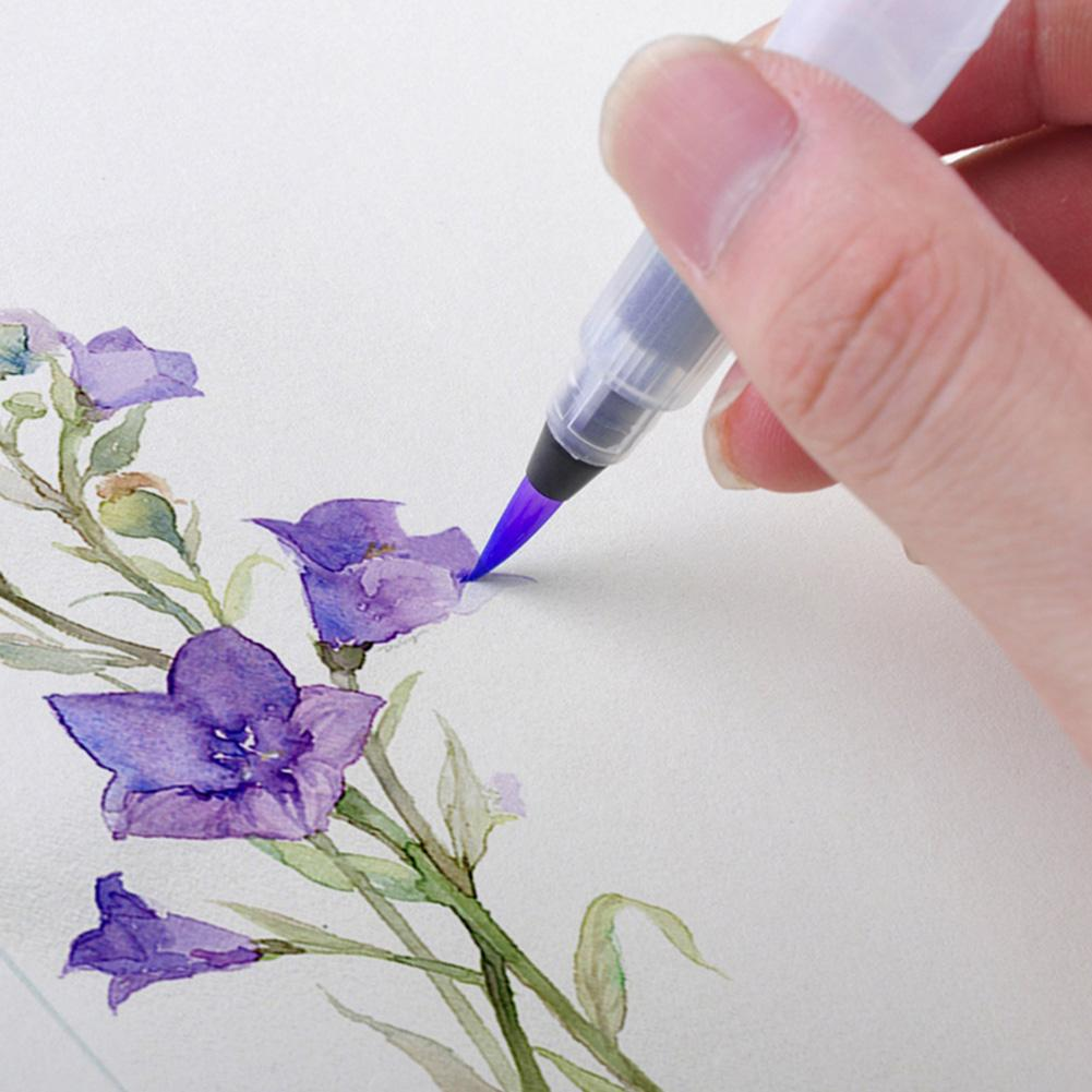 1/3Pcs Can Be Filled With Watercolor Brush Drawing Pen Soft Head Art Painting Supplies School Office Supplies
