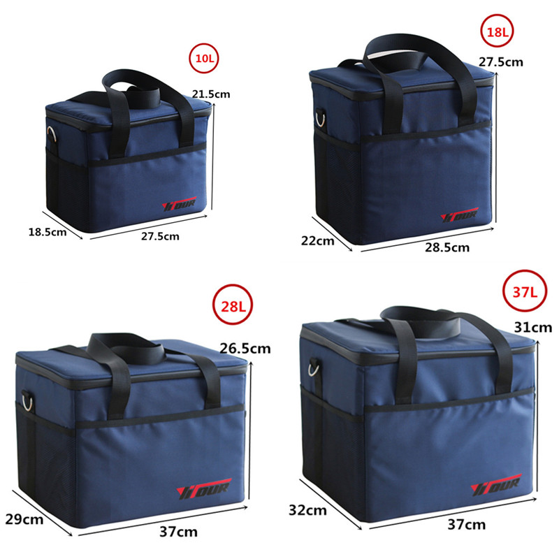 Extra Large Insulated Cooler Bag Men Thicken Thermal Ice Pack Weekend Picnic Food Beer Storage Container Refrigerator Pouch Box