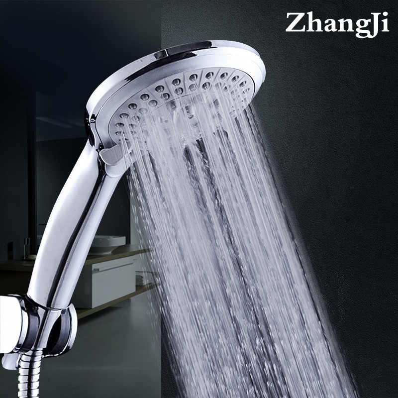 Zhang Ji 5 Mode Nozzle Shower Sprayer Shower Head HandHold Rainfall Jet Spray High pressure Powerful Shower Head Chrome plating