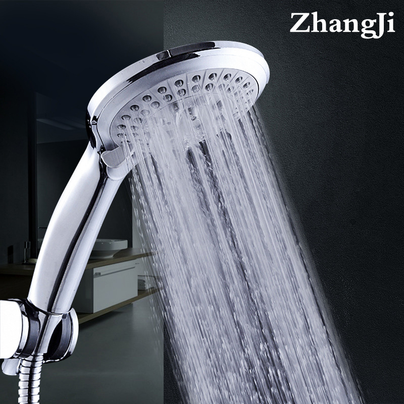 Zhang Ji 5 Mode Nozzle Shower Sprayer Shower Head HandHold Rainfall Jet Spray High Pressure Powerful Shower Head Chrome Plating