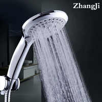 Zhang Ji 5 Modus Silikon Düse Dusche Kopf Haltegriff Niederschläge Jet Spray hochdruck Leistungsstarke Dusche Kopf Chrom überzug