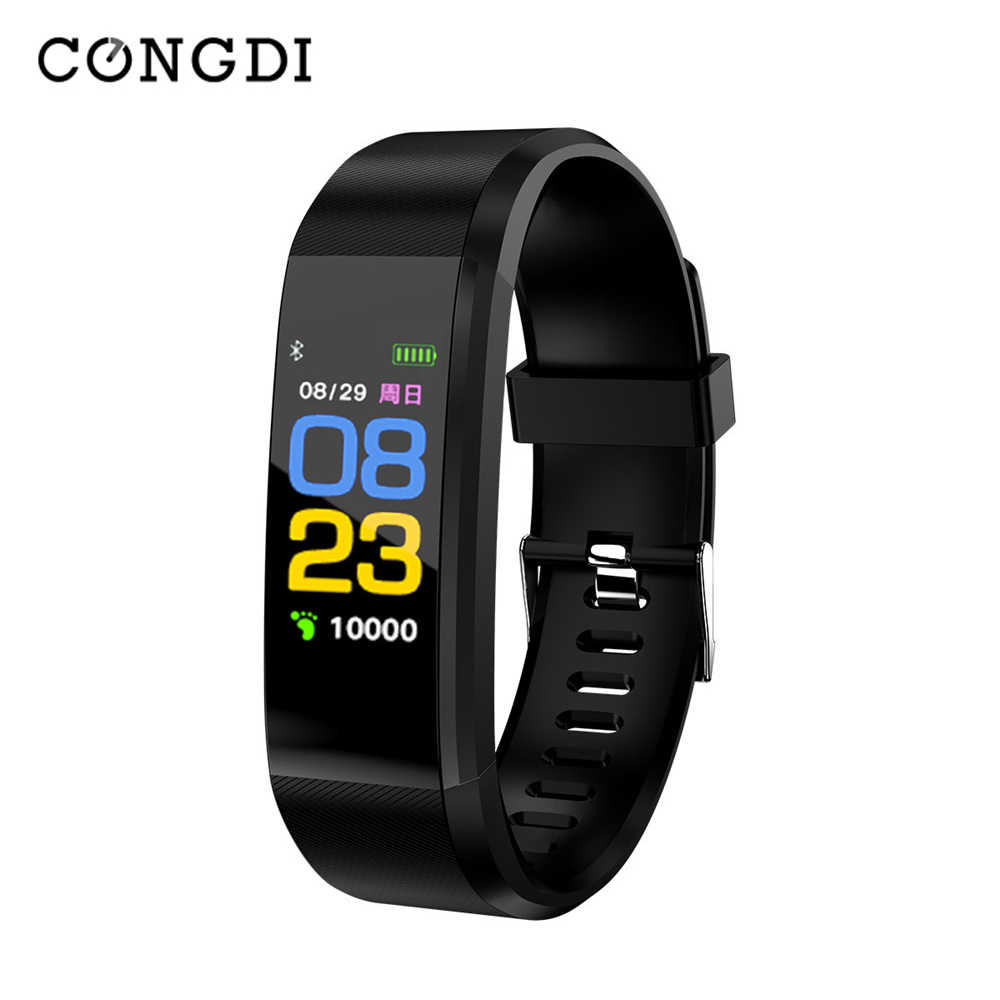 115 plus smart armband 0.96Inch Scherm Slimme Horloge Sport Band Gezondheid Slaap Tracker Motion hartslag Bluetooth Smart Armband