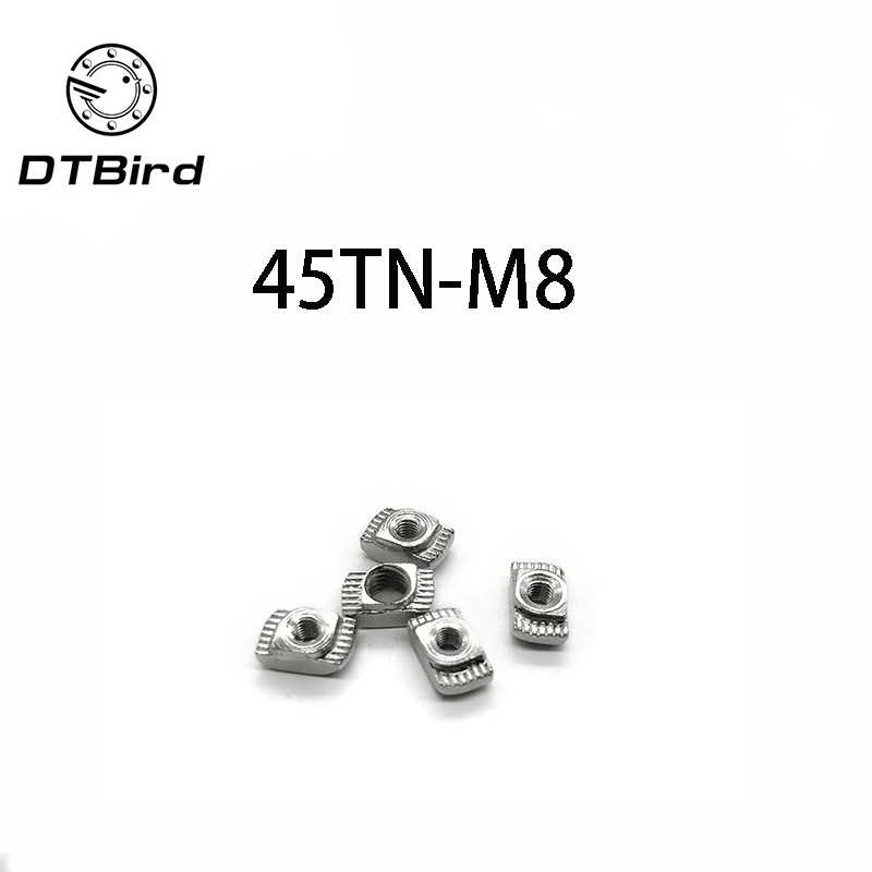 T ナットハンマーヘッドナットコネクタニッケルメッキ 45 シリーズスロット溝 8 M4 M5 M6 M8 アルミプロファイルアクセサリー 45-M8 DT2