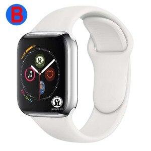 Image 1 - B Smart Uhr Serie 4 Männer Frauen Bluetooth SmartWatch für Apple iOS iPhone Xiaomi Android Smart Telefon (Rot Taste)