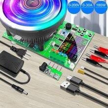 Dl24p 180w 2.4 Polegada dc usb tester aplicativo de carga eletrônica 18650 capacidade da bateria monitor descarga carga medidor potência verificador