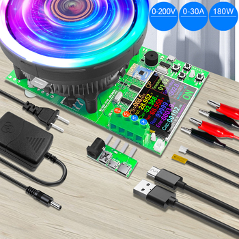 strong Import List strong DL24P 180W 2 4 Cal DC USB Tester obciążenie APP 18650 pojemność akumulatora Monitor rozładowania ładowania miernik mocy tanie i dobre opinie SJAMING CN (pochodzenie) ELECTRICAL Tester Akumulatora pojazdu