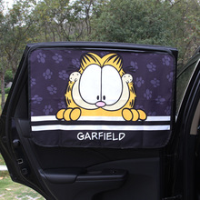 1PC רכב חלון שמשיה כיסוי Cartoon רכב חלון וילון Kawaii מגנטי צד שמש צל וילון אוניברסלי צד חלון שמשיה