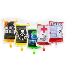 Pouch 20pcs 250ml Props Blood-Bag Beverage Drink-Container Water-Bottle Cosplay Vampire