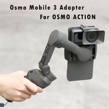 Portable Handheld Adapter Camera Mount Holder for DJI OSMO Mobile 3 to for OSMO Action Camera Gimbal Stabilizer Accessories osmo action accessories for dji osmo action camera adapter switch plate osmo mobile 2 1 handheld gimbal mount bracket clip