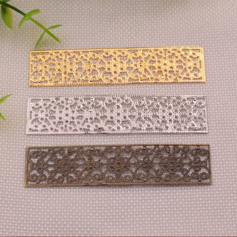 Free Shipping 5Pcs DIY Jewelry Accessories Connectors 85*20MM Metal Leaf Ancient Headwear Hairpin Handmade Material