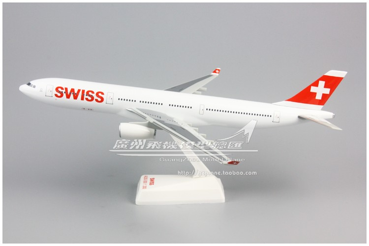 Swissair Swissair Airbus A330-300 1: 200 Assembled Aircraft Model 31cm Swiss Airlines For Xmas Birthday Gift For Kids Adult