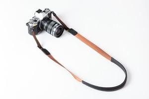 Image 5 - Originele Echt Leer + Singels Handgemaakte Camera Schouderriem Neck Riem voor Canon/Nikon/Sony/Panasonic/ sigma/Olympus/Fuji