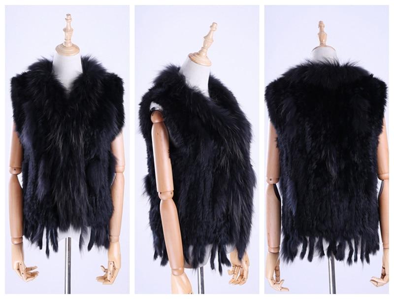Hc847777c6d384120a196883bbf0ff54d1 Brand New Women's Lady Genuine Real Knitted Rabbit Fur Vests tassels Raccoon Fur Trimming Collar Waistcoat Fur Sleeveless Gilet