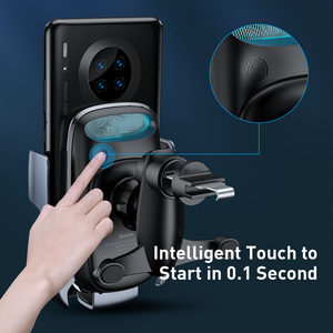 Image 5 - Baseus 15ワットチーワイヤレス車の充電器iphone 11高速車のワイヤレス充電ホルダー三星S20 xiaomi mi 9誘導充電器