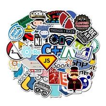 50pcs Stickers Programmer Programming Sticker Laptop Notebook Computer Skateboard Car Guitar Decor Graffiti Toys for Children