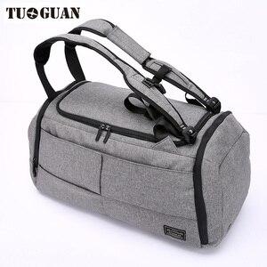 Image 3 - Sac de voyage antivol pour hommes, sac de transport avec mot de passe, imperméable, sac à bandoulière pour week end, grande capacité, sac de transport