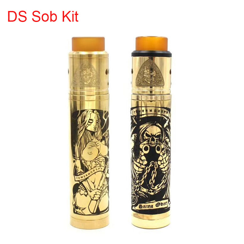 SUB TWO DS Mechanical Mod 24mm Diameter 510 Thread Vaporizer Vape Pen Fit 18650 Battery VS Sob V2 Mod Kennedy Vindicator Mod Kit