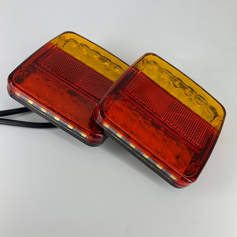 Truck Accessories 12V 2pcs LED Light Tail Light IP68 Waterproof Truck Light Rear Light  Trailer Accessories Caravan Accessories