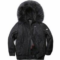 Warm men's winter motorcycle velvet jacket fox fur collar rabbit fur lining parker coat jacket