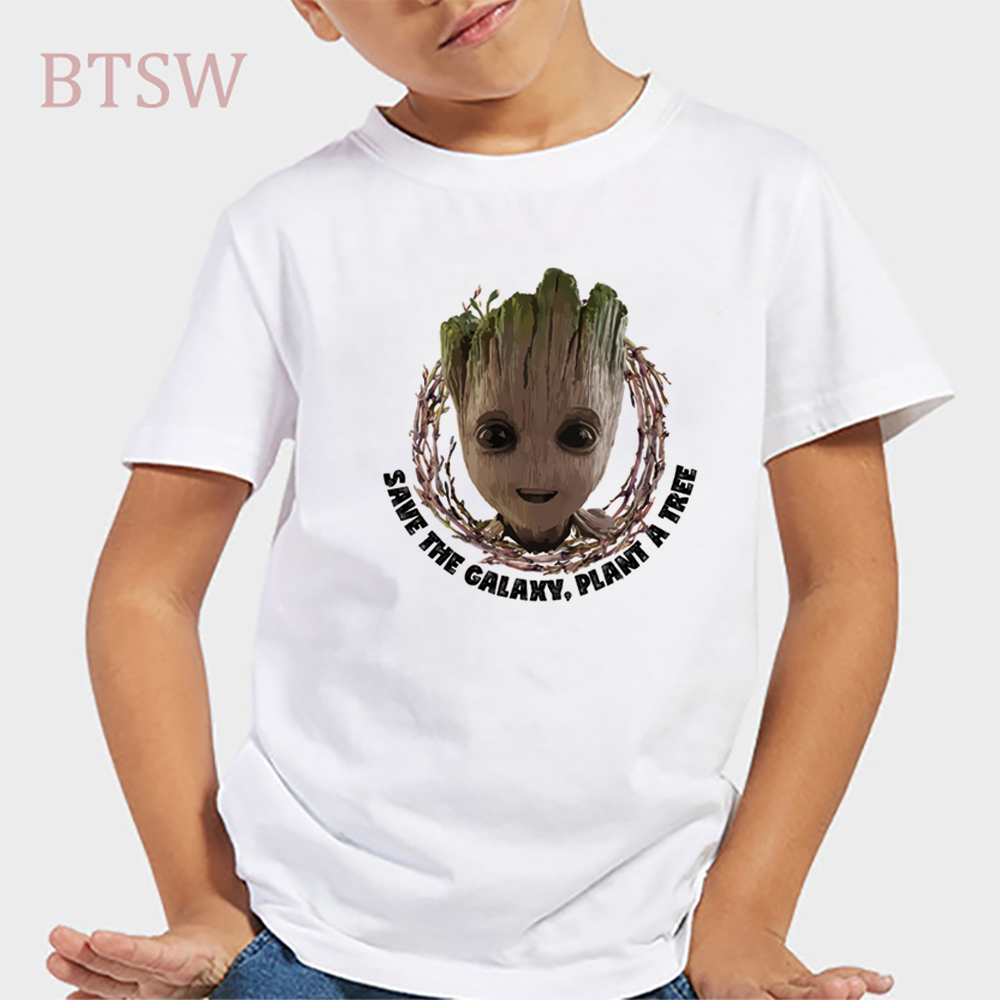 I AM GROOT KIDS CHILDRENS T SHIRT GUARDIANS ROCKET GALAXY OF FUNNY BOYS TOP