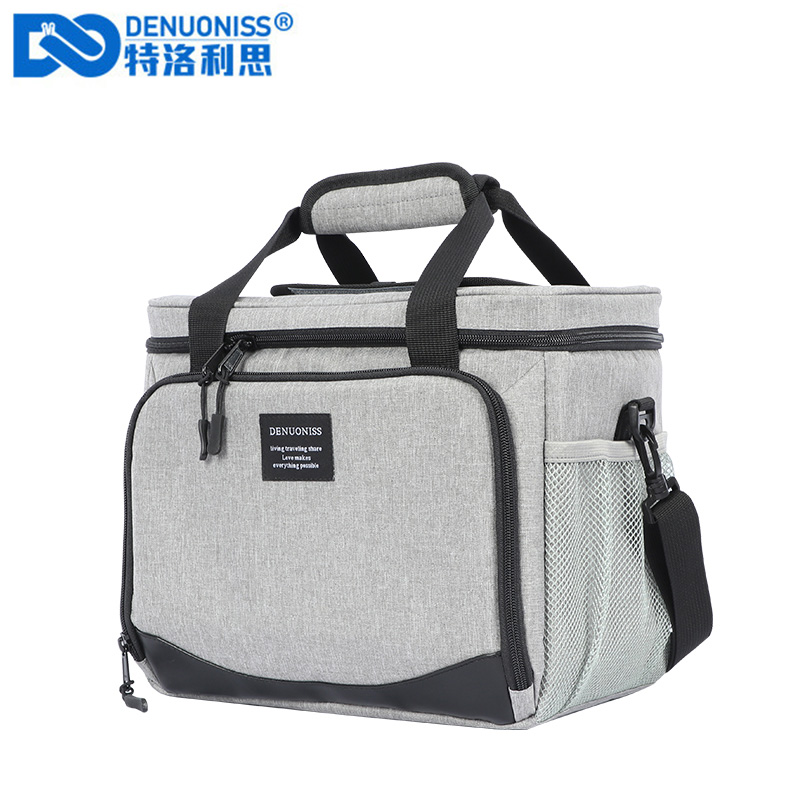 Denuoniss 16L Insulated Thermal Cooler Lunch Box Bag For Work Picnic Bag Car Bolsa Refrigerator Portable Shoulder Bag