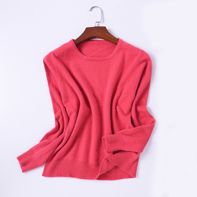 2019 New Autumn Winter Cashmere Sweater Women Tops Autumn Winter Round Neck  Pullovers Female Long Sleeve Solid Color