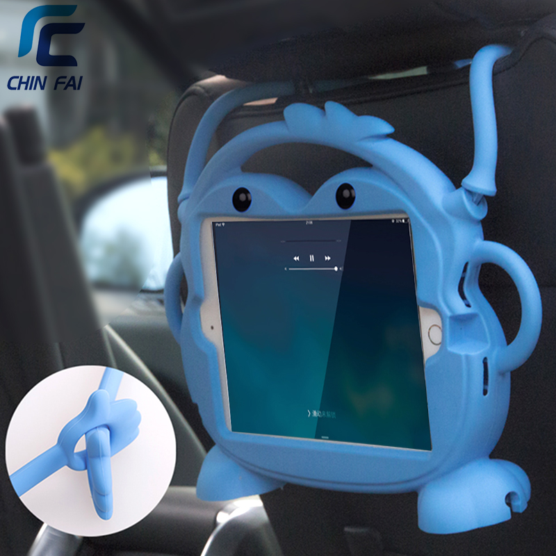 CHINFAI Silicone Case for iPad mini 4 5 7.9 2019 Kid friendly Car Shockproof Washable Stand Tablet Case for iPad mini 1 2 3 7.9 image