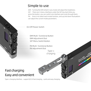 Image 5 - AMBITFUL luz LED regulable a todo Color K10 RGB 2500K 8500K para vídeo, fotografía, estudio, cámara DSLR, BL P1