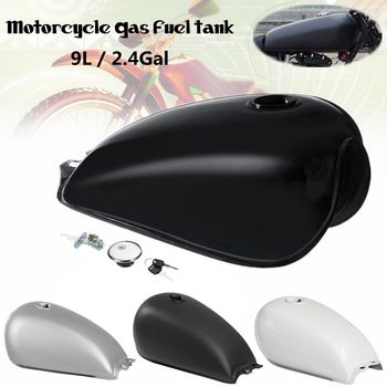 9L 2.4 Gal Universal Motorcycle Retro Fuel Gas Tank Vintage Cafe Racer with Oil Tank Cap For Suzuki GN125