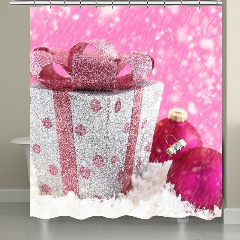 10 видов Рождественская задняя капля Снежный принт Водонепроницаемая занавеска для ванной комнаты занавеска для ванной унитаза коврик набор нескользящих ковриков - Цвет: RS005 Bath Curtain