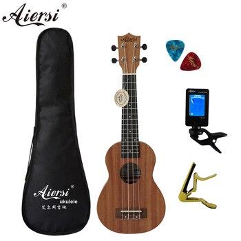 Aiersi бренд 21 дюймов ukelele красное дерево сопрано укулеле музыкальный инструмент гитара