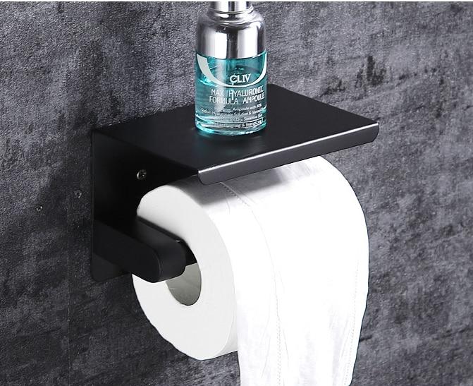 ROLYA SUS 304 Stainless Steel Wall Mount Bathroom Lavatory  Tissue Holder Paper Towel Holder Rolling Toilet Paper Holder