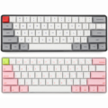 Sk61 60% custom mechanische tastatur rgb optische schalter leds hot swapping buchse leistungsstarke control software typ c pcb platte fall