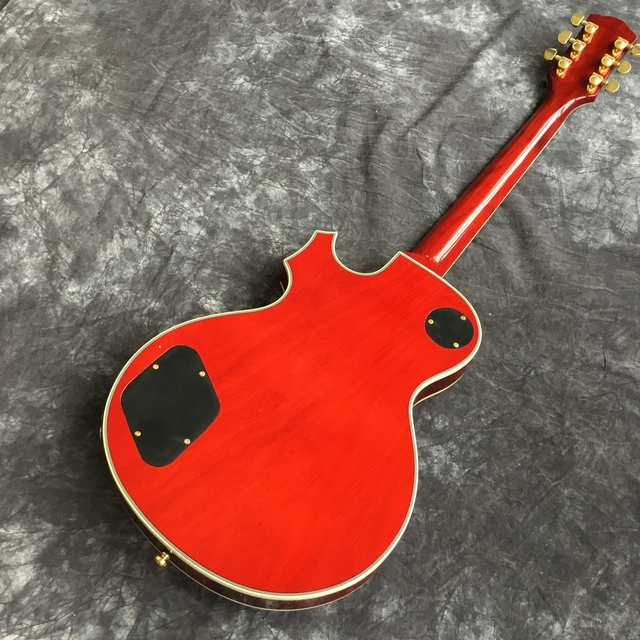 Suneye LPOD guitar and case, tiger flame top guitar sunburst color. Mahogany body. Gold hardware 4