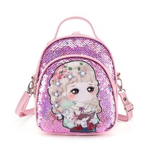 Aelicy Fashion Women Packet Fashion Sequins Cute Leather Children #8217 s Schoolbag Shoulder Bag Backpacks For School Teenagers Girls cheap Softback Soft Handle zipper cartoon backpack schoolbag for girls solid backpack women backpack women school schoolbags for school