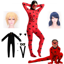The New hot Clothes Lady Bug Ladybug Cosplay Costume Christmas Halloween Carnival Party Custome Kids Girls Suit Venue 3-10Y