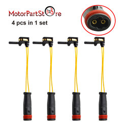 4 sztuk przednie tylne czujnik zużycia klocków hamulcowych dla Mercedes Benz W211 W220 2115401717 D20|Linki hamulcowe|   -