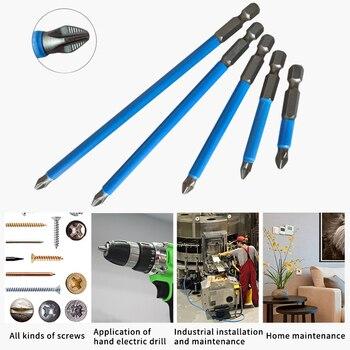 цена на 10Pcs 50mm/25mm Magnetic Screwdriver Bit Set Anti Slip Electric Power Tools Repair Work Accessories Electric Drill Screwdriver