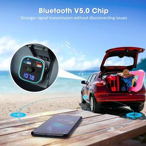 Image 5 - VicTsing H37 Bluetooth FM Transmitter QC3.0 Quick Charge Hi Fi Wireless Radio Adapter with RGB Light Hands free & U Disk/TF Card