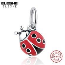 Charm-Bead Ladybug Jewelry-Making Bracelet Diy Animal ELESHE 925-Sterling-Silver Enamel