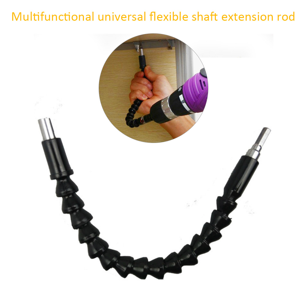 298mm Electric Drill Screwdriver Bit Multifunctional Universal Snake Flexible Hose Cardan Shaft Connection Soft Extension Rod