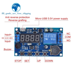 Image 1 - DC 5V Real time Timing Delay Timer Relay Module Switch Control Clock Synchronization Multiple mode control Wiring diagram