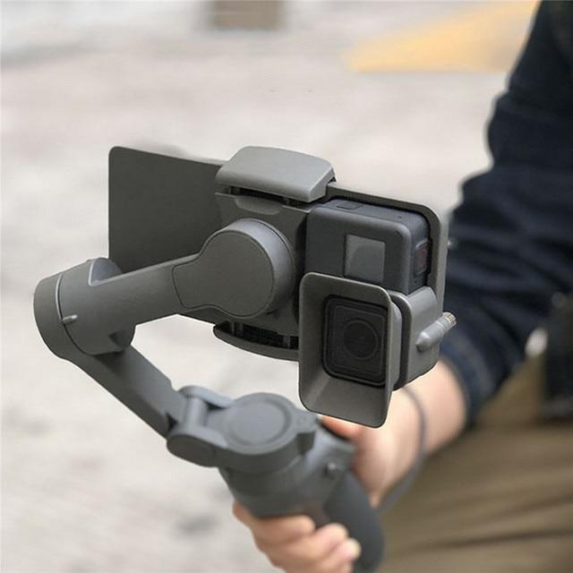 المحمولة المحمولة محول جبل قوس حامل ل DJI OSMO المحمول 3 إلى GoPro 5/6/7 جهاز موازنة الكاميرا ومنع انحرافها الملحقات