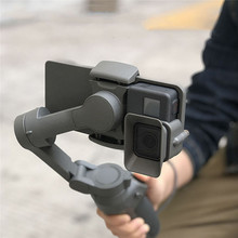 ポータブルハンドヘルドアダプタマウントブラケットホルダー dji OSMO 携帯 3 の gopro 5/6/7 カメラジンバルスタビライザーアクセサリー