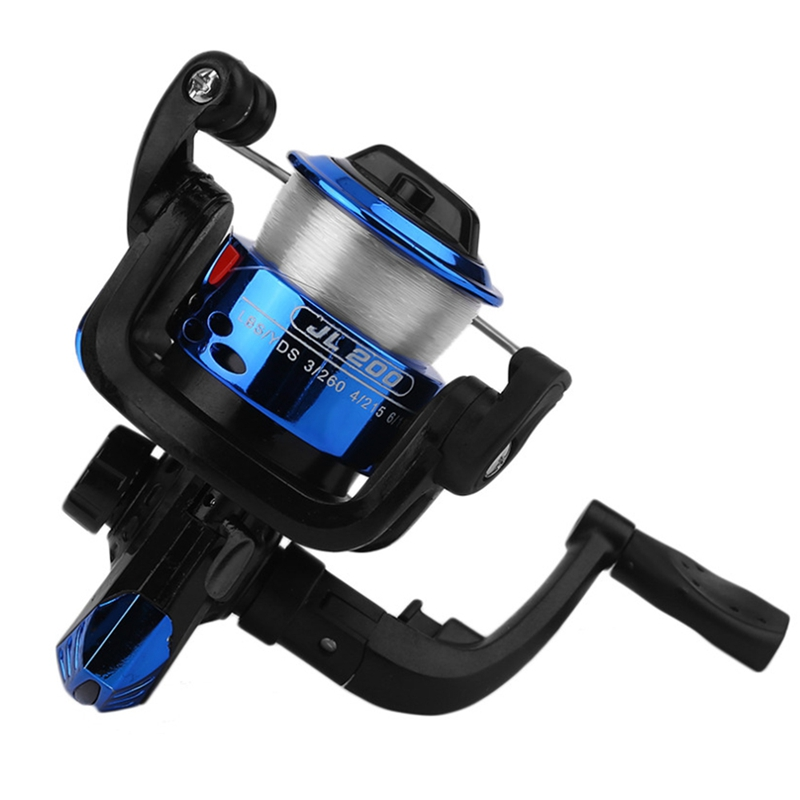 ABZB-Yumoshi Jl200 Electroplating Fishing Reel Gear Ratio 5.1: 1 Spinning Reel With Fishing Line Hot New Style