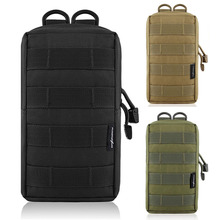 600D Tactical EDC Molle Pouch Bag Outdoor Vest Waist Pack Hunting Backpack Accessory Gadget Gear Bag Compact Water-resistant Bag outdoor water resistant backpack bag black