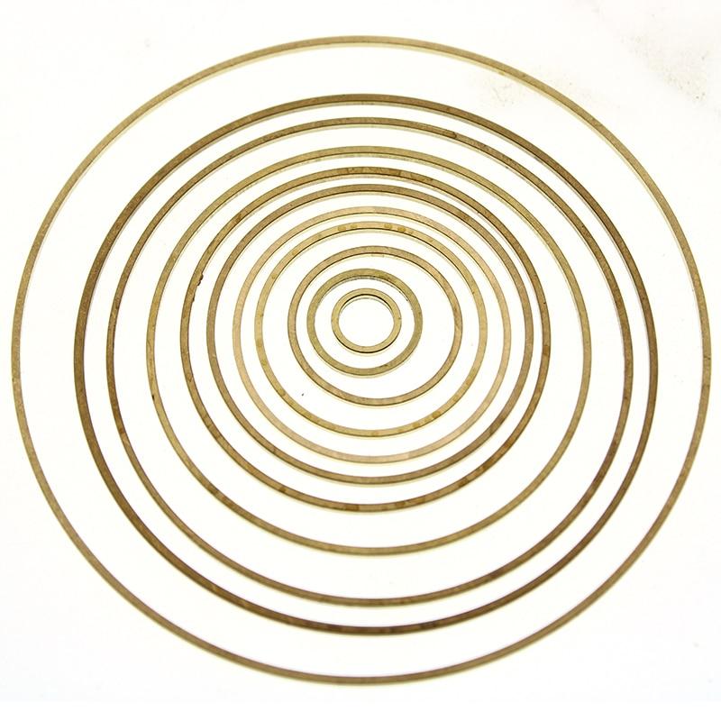 4mm - 60mm Original Brass Jump Rings Closed Rings DIY Jewelry Accessories Big Round Loop Hoop Circle fit Earring Making Findings(China)