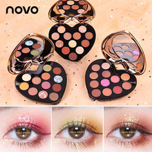 NOVO 12 Color Nude Shining Eyeshadow Pearlescent Makeup 3 Styles Glitter Pigment